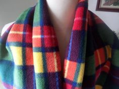 Tartan Scarf, Stocking Fillers, Polar Fleece, Shawls And Wraps, Womens Scarves, Hand Sewing, Stockings, Etsy Shop, Check