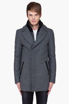 Mackage Grey Alexander Coat for Men   SSENSE