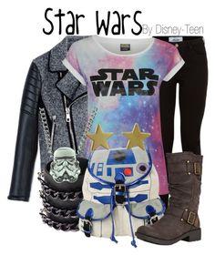 """Star Wars"" by disney-teen ❤ liked on Polyvore featuring Neil Barrett, Mia Bag, R2, Rocket Dog and Jennifer Meyer Jewelry"