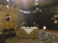 Garage Decorated For Graduation Party