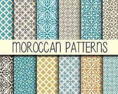 Diseño de azulejos marroquíes Scrapbook Set de por babushkadesign