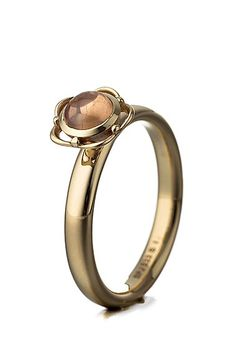 Ring, 333 Gold, golden/rosé SPINNING JEWELRY