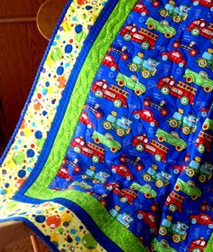 Baby Quilt  Kids Quilt  Cars and Trucks Little by birdsongquilts, $95.00