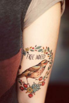 free indeed #tattoo #bird