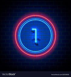 Neon Number, Astronaut Wallpaper, Pikachu Art, Web Design, Graphic Design, Adobe Illustrator, Cyber, Vector Free, Fonts