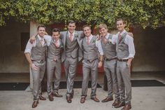 Groomsmen attire - like the colors but diff tie to match our color theme
