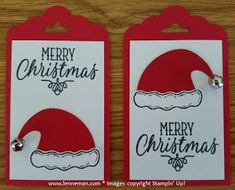 Dena Lenneman, Stampin' Up! Demonstrator: Jolly Friends Hang Your Stocking Tag (september crafts stampin up) Christmas Gift Tags, Handmade Christmas, Holiday Cards, Christmas Cards, Christmas Paper Crafts, Stampin Up Christmas, Noel Christmas, Handmade Gift Tags, Paper Tags