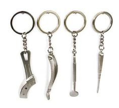 One Dental Keychain For Dentist, Team Gift, Elevator or forceps or Mirror or Tray
