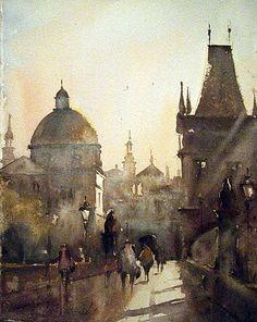 Morning in Prague, by Dusan Djukaric
