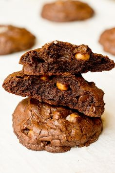 smoked sea salt chocolate fudge caramel cookies.