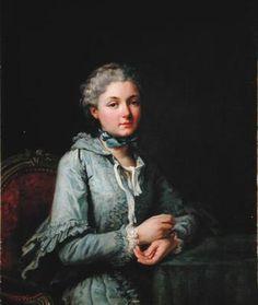 Innocente-Guillemette de Rosnyvinen de Pire, Countess of Villeteart, 1746-1824, by Carle Van Loo, 1762