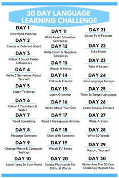 Check out this awesome 30 Day Language Learning Challenge! Each day learn new language learning tips. This is one of the most effective ways to learn a foreign language. tips 30 Day Language Learning Challenge Korean Words Learning, Japanese Language Learning, English Language Learning, Learning Spanish, Learn Italian Language, Learning Italian, German Language, Learn Foreign Language, Swedish Language