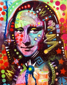 """project inspiration: photocopy mona lisa.  Have students paint or draw on  photo copy in a different style.  name the painting after the student....ex: """"the mona kelsey"""""""