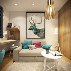 colorful-small-home-office-design.jpg 1,200×1,200 pixels