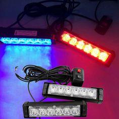 31.19$  Buy here - https://alitems.com/g/1e8d114494b01f4c715516525dc3e8/?i=5&ulp=https%3A%2F%2Fwww.aliexpress.com%2Fitem%2F2x-6-LED-Car-Grille-LED-Emergency-Beacon-Light-Bar-Hazard-Strobe-Warning-Blue-Red%2F32674384090.html - 2x 6 LED Car Grille LED Emergency Beacon Light Bar Hazard Strobe Warning Blue Red