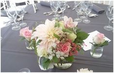 Pastel tradition wedding table flowers from Paris #wedding #flowers