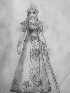 A drawing of princess Zelda by Nyoc Nyoc