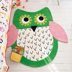 Buy Designers Guild Little Owl Emerald Rug | Amara