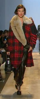 Michael Kors Fall 2012  Arizona Muse models a Scottish Highlands-inspired look.