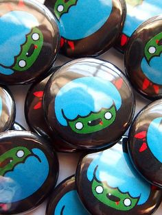GRRRR Zombie-pus 1 inch buttons by merryhappystudios.deviantart.com on @deviantART
