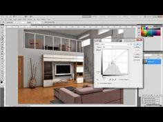 Photoshop - interior render enchancement