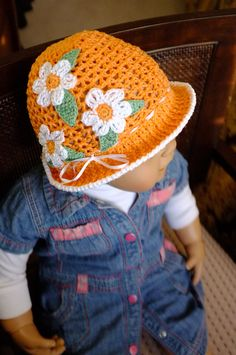 Spring Summer Baby Toddler Hat Easter Hat Beach Hat by milazshop, $29.00