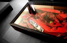 Crashed Ferrari Coffee Table - interesting...