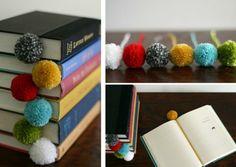 pom pom y el frio Pom Pom Crafts, Yarn Crafts, Diy And Crafts, Crafts For Kids, Presents For Girls, Ideas Geniales, Yarn Ball, Bookbinding, Pom Poms
