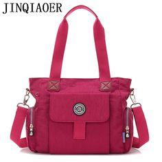 f7f8b0cabc53 Fashion Women Crossbody Bags Handbag Zipper Solid Waterproof Nylon Messenger  Bag Casual Shoulder Bags Tote Bolsas