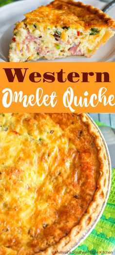 Recipes Omelettes Western Omelet Quiche use reg onions and mushrooms and spinach instead of ham. Breakfast Quiche, What's For Breakfast, Breakfast Dishes, Ham Quiche, Frittata, Christmas Breakfast, Latin Food, Special Recipes, Filet Mignon Chorizo