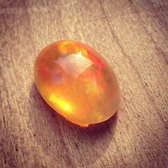 Mexican Fire Opal. Im obsessed with these magical stones. Setting rings next week! #opals #jewelry #katyrodriguez