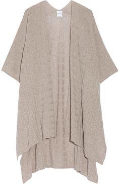 Madeleine Thompson - Ribbed-knit Cashmere Wrap - Mushroom