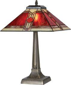 Aztec table lamp ~ Tiffany