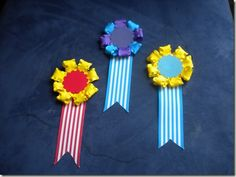 Make your own award ribbons!  Perfect for class parties!