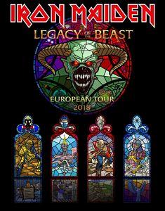 Iron Maiden - European Tour, 2018 - Legacy of the Beast