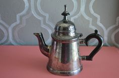 Vintage Collectible ESPN Silverplate Teapot w/ Bakelite Handle Made in India