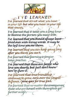 Lorraine Ortner-Blake Calligraphy Portage Wisconsin