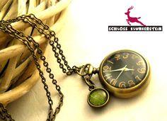 WUNSCHBAUM - Echte Blätter Uhrenkette Taschenuhr from Schloss Klunkerstein - Designer Schmuck Manufaktur & Armbanduhren für besondere Menschen. Naturschmuck, Geschenke, Vintage Raritäten mit Geschichte! by DaWanda.com