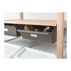 ikea ivar built in pantry all components purchased separately then took apart the ends of the. Black Bedroom Furniture Sets. Home Design Ideas