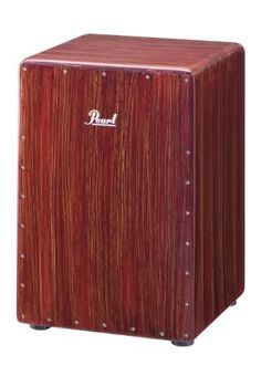 Pearl Boom Box Cajon by Pearl. $193.73. Pearl's new Boom Box Cajon is creates never-before-heard low-end frequencies from a Fiberglass cajon! This cajon features the high-quality construction you expect from Pearl, with a fixed snare system and a built-in bass port for subsonic frequencies you have to hear to believe! Finished in a rich Artisan Red Mahogany, this is a perfect addition to any drummer or percussionists' rig.. Save 42%!