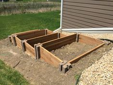 Raised Garden Bed on sloped area. #raisedgarden