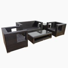 get discount outsunny 5pc outdoor pe rattan wicker sectional loveseat sofa set outdoor patio furniture