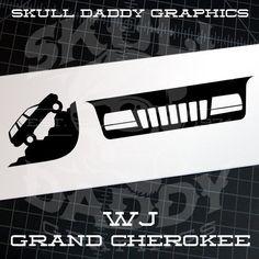 Jeep Grand Cherokee 99 04 Wj Windsheild Grille Corner Climber Sticker 04 Jeep Grand Cherokee Jeep Grand Jeep Grand Cherokee