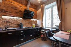 кухня в дизайне интерьера в стиле лофт
