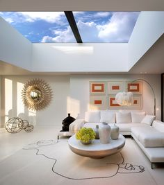 Living Room - London penthouse with retractable roof