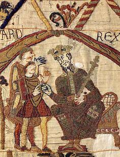 Edward the Confessor Bayeaux Tapestry Time Out Of Mind, Ottonian, Norman Conquest, Medieval Embroidery, Ancient Names, Bayeux Tapestry, William The Conqueror, Plantagenet, Old Clothes