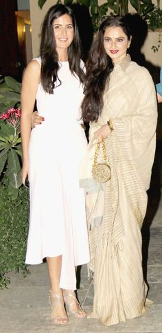 Two of my Favorite ladies Katrina Kaif and Rekha snapped