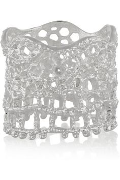 Aurélie Bidermann | Lace silver-plated ring | NET-A-PORTER.COM
