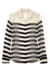 Stripe Blouse - tuck it into a skirt, wear it under a jacket, wear it with a colorful scarf or necklace