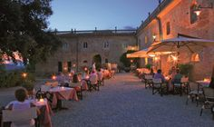 Restaurant in Borgo di Colleoli with beautiful terrace and a wine cellar #Tuscany